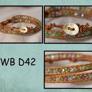 WB-D42 double beaded wrap bracelet